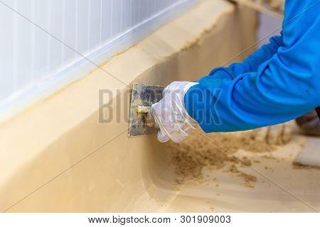 Concrete Coating. Ucrete Polyurethane Industrial Flooring Surface Coating Systems