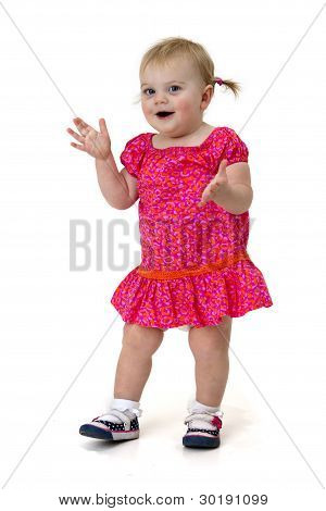 happy clapping child