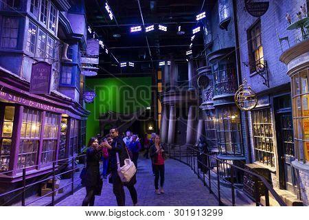 London, Uk; October 23, 2013; Warner Bros Studios London Tour, With The Sets And Original Material O
