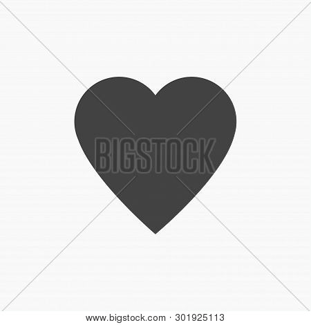 Heart Icon Vector. Perfect Love Symbol. Valentine Day Sign, Emblem Isolated On White Background With