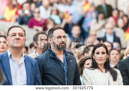 Caceres, Extremadura, Spain - May  18, 2019:  The Leader Of The Far-right Vox Party, Santiago Abasca