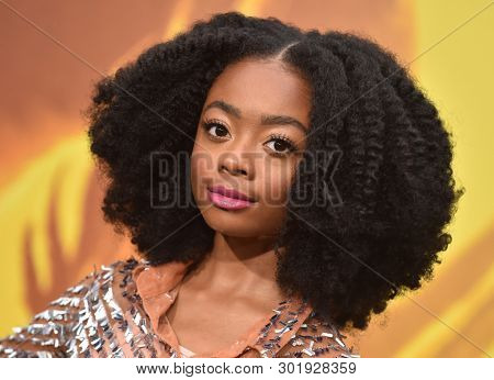 LOS ANGELES - MAY 18:  Skai Jackson arrives for the 'Godzilla: King of the Monstersl' Hollywood Premiere on May 18, 2019 in Hollywood, CA