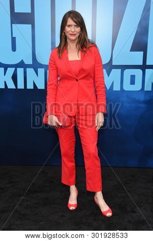 LOS ANGELES - MAY 18:  Amy Landecker arrives for the 'Godzilla: King of the Monstersl' Hollywood Premiere on May 18, 2019 in Hollywood, CA