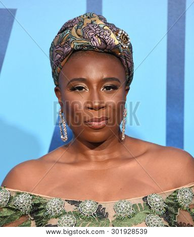 LOS ANGELES - MAY 18:  Aisha Hinds arrives for the 'Godzilla: King of the Monstersl' Hollywood Premiere on May 18, 2019 in Hollywood, CA