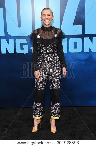 LOS ANGELES - MAY 18:  Madison Iseman arrives for the 'Godzilla: King of the Monstersl' Hollywood Premiere on May 18, 2019 in Hollywood, CA