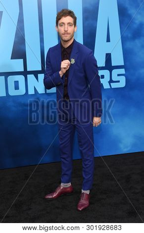 LOS ANGELES - MAY 18:  Thomas Middleditch arrives for the 'Godzilla: King of the Monstersl' Hollywood Premiere on May 18, 2019 in Hollywood, CA