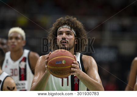 Rio, Brazil - May 19, 2019: Anderson Varejao Players During Flamengo Vs. Franca For The First Play-o