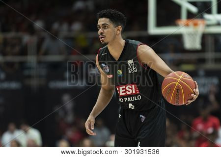 Rio, Brazil - May 19, 2019: Alexey Players During Flamengo Vs. Franca For The First Play-off Of The