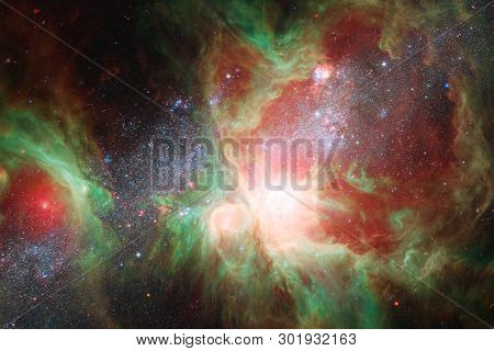 Nebulae And Stars In Deep Space. Cosmic Art, Science Fiction Wallpaper. Elements Of This Image Furni