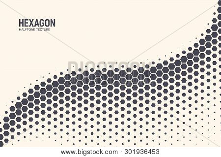 Hexagon Shapes Vector Abstract Geometric Technology Oscillation Wave Isolated On Light Background. H