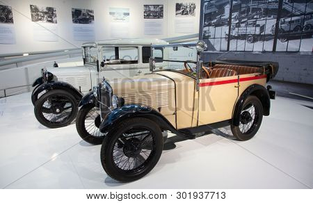 MUNICH - GERMANY April 20, 2019: Headquarter and museum of famous car maker BMW in Munich, Germany.