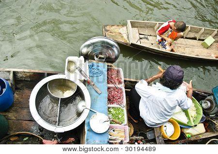 Floating Market Boat Noodle
