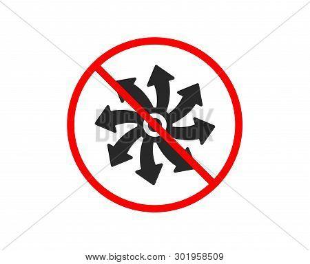 No or Stop. Versatile icon. Multifunction sign. Prohibited ban stop symbol. No versatile icon. Vector poster