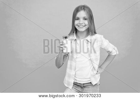 Girl long hair hold plastic bottle with medicines copy space. Add vitamin to your ration. Need vitamin supplements. Most important vitamins and minerals your kid need. Vitamin supplements concept. poster