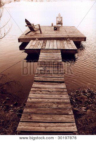 Fishing Lake, party dock, Mound City, KS