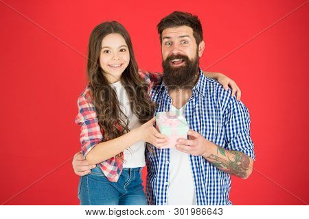 Feeling Safe With Dad. Father And Daughter Embrace. Happy Little Girl With Father. Family Bonds. Bir