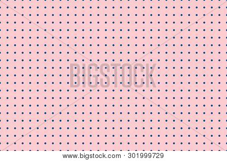 Minimalistic Seamless Background. The Background Is Filled With Circles At Equal Distance. Versatile