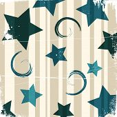 Grunge stars background fully editable vector illustration poster