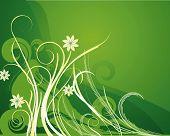 floral design illustration background drawing with grunge elements poster
