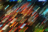 colorful red traffic lights in motion blur poster