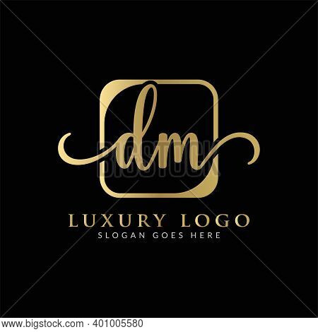 Initial Dm Letter Logo Creative Modern Typography Vector Template. Creative Luxury Abstract Letter D