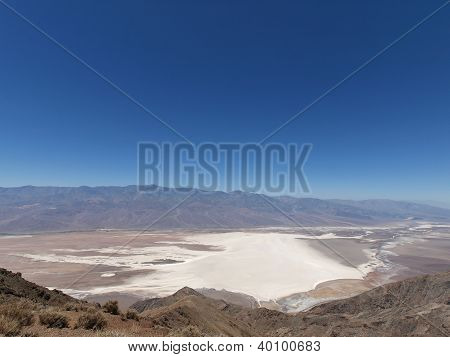 View Overlooking Badwater , Death Valley