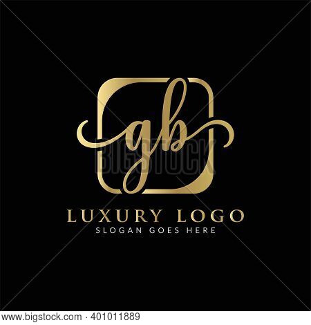 Initial Gb Letter Logo Creative Modern Typography Vector Template. Creative Luxury Letter Gb Logo De