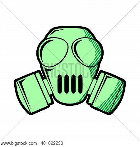 Chemical Gas Mask Icon. Simple Illustration Of Chemical Gas Mask Bread Vector Icon For Web