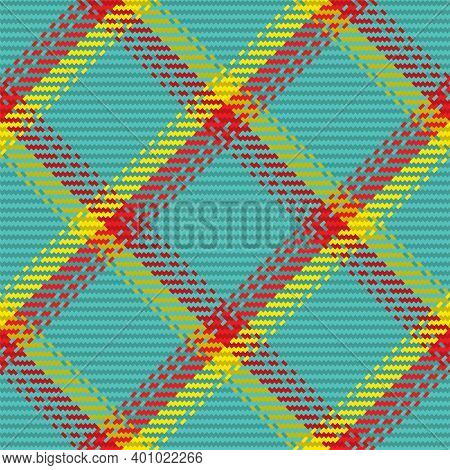 Seamless Pattern Of Scottish Tartan Plaid. Repeatable Background With Check Fabric Texture. Vector B