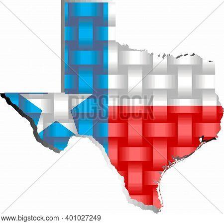 Texas Map - Illustration,  Three Dimensional Map Of Texas