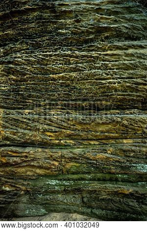 Walls Of The Ledges In Cuyahoga Valley National Park Fill Frame