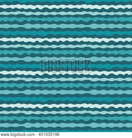 Abstract Seamless Pattern With Organic Shapes, Wavy Lines, Stripes. Stylish Vector Texture With Smoo