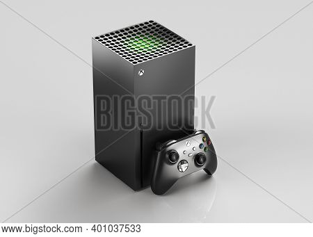 Italy - 27 December, 2020: New Video Game Consoles: Black Xbox Series X