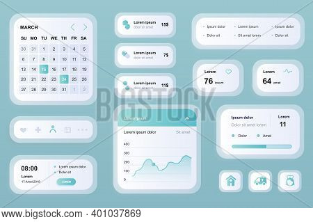 Gui Elements For Medicine Mobile App. Online Medical Services In Clinic, Pharmacy Store User Interfa