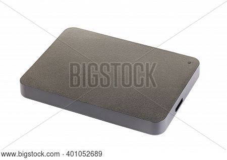 External Hard Drive Disc With Usb 3.0 Cable, Black. Best Way Of Data Storage On Portable Hdd. Close
