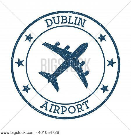 Dublin Airport Logo. Airport Stamp Vector Illustration. Dublin Aerodrome.