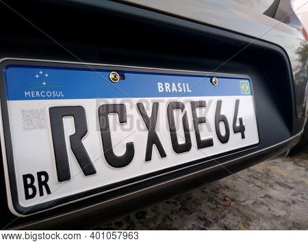 Vehicle Plate In The Mercosur Standard