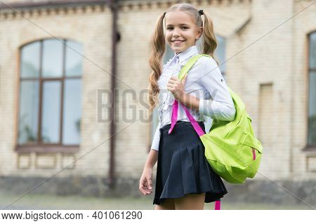 Fun And Study. Happy Child Back To School. Learning Environment. Formal Fashion. School Uniform. Edu