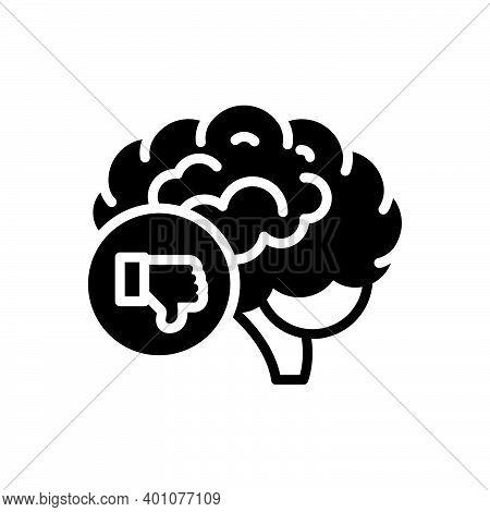 Black Solid Icon For Criticism Brainstorm Concept Critic Intellectual Think Unlike Thumb-down Negati