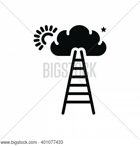 Black Solid Icon For Potentially Likely Possibly Probably Imaginably Maybe Growth Ladder Motivation