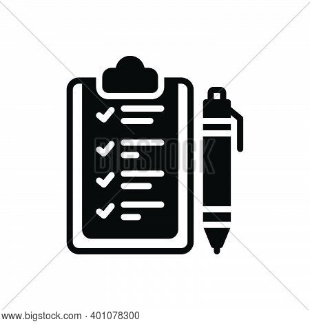 Black Solid Icon For Rule Ordinance Guideline Prescript Method Guideline Concept Regulation Authorit