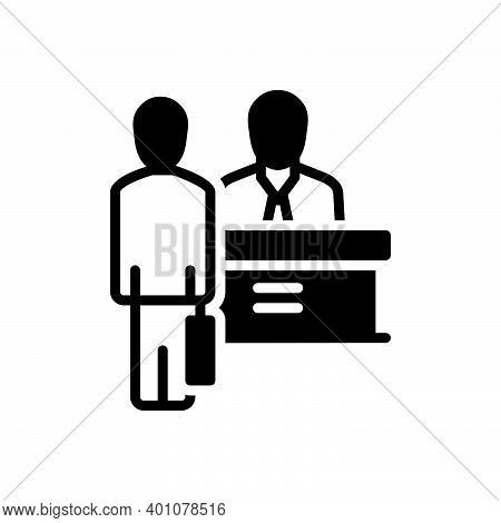 Black Solid Icon For Appoint Nominate Employ Choose Job Consultant Staff Personnel Workers Crew Cadr