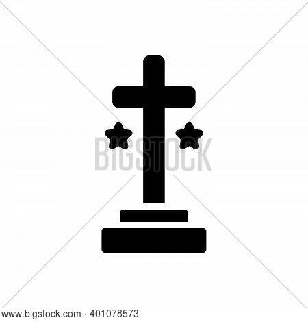 Black Solid Icon For Cross Holy Spirituality Sign Crucifix God Catholic Jesus Faith Mythology Belief