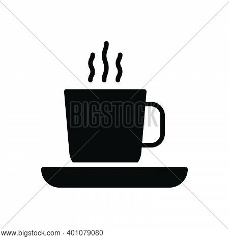 Black Solid Icon For Cup Coffee Morning-tea Tea Refreshment Beverage Breakfast Cappuccino Liquid Hot