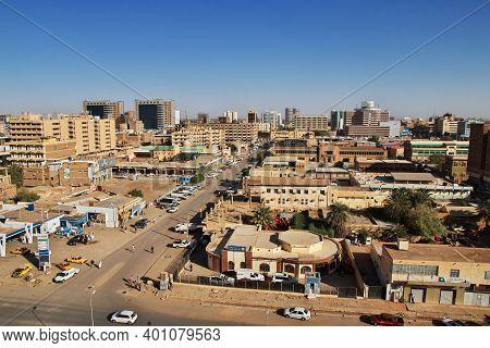 Khartoum, Sudan - 18 Feb 2017: The View On The Old Town Of Khartoum, Sudan
