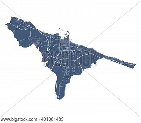 Bari Map. Detailed Vector Map Of Bari City Administrative Area. Cityscape Poster Metropolitan Aria V