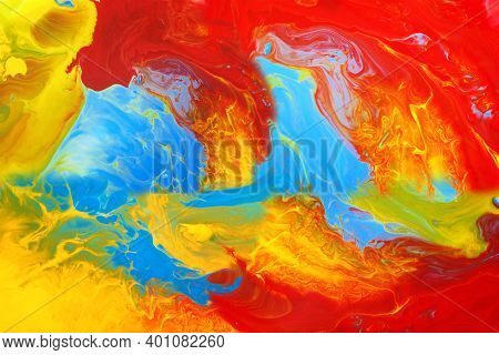 Abstract Color Art Background Multicolored Paint Colorful Texture