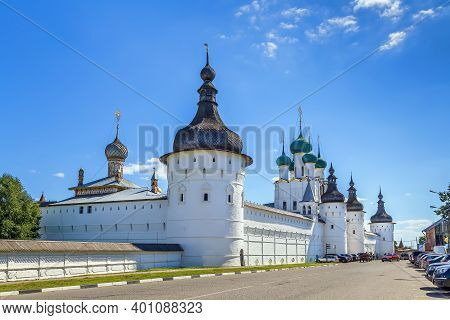 View Of Rostov Kremlin From Street, Russia