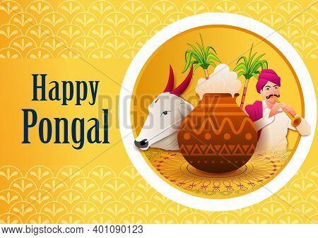 Happy Pongal Holiday Religious Festival Celebration Background