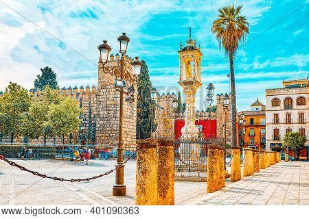 Medieval Residence Of Spanish Kings- Royal Alcazar Of Seville. S